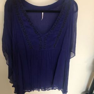 Free people beaded chiffon dress top